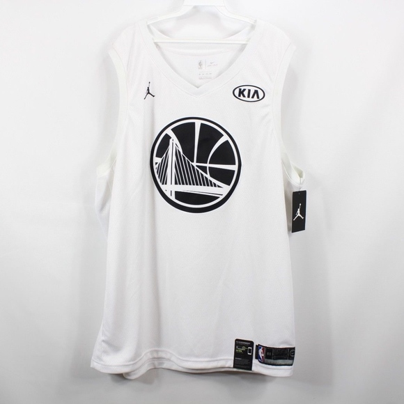 quality design 6aee1 0b8fd New Nike Golden State Warriors Durant Jersey White NWT